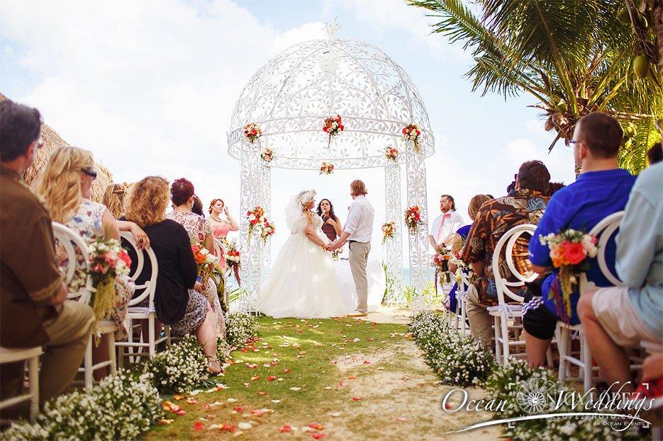 Bodas en Cancún - Ceremonia en gazebo