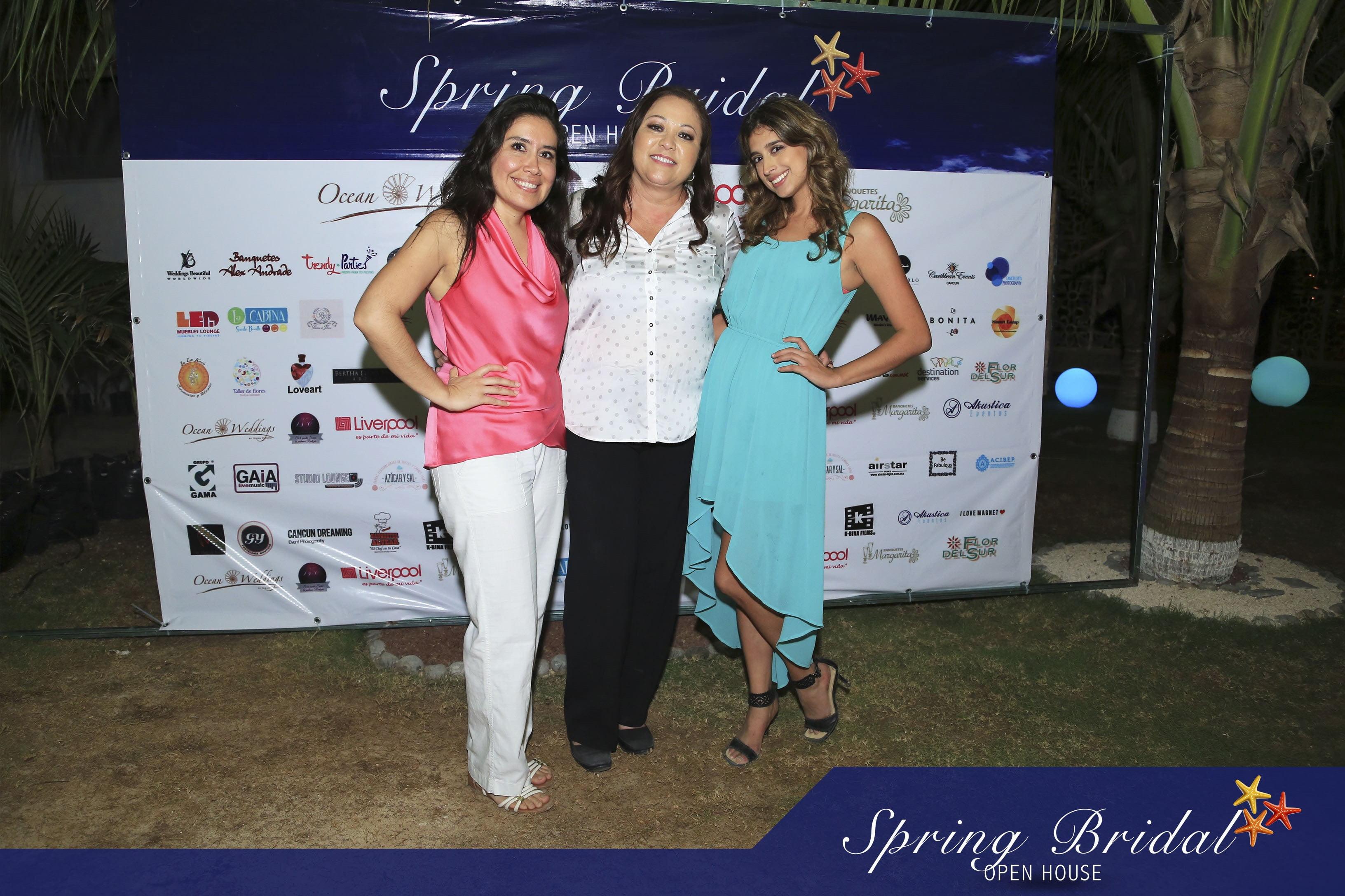 Claudia, Bertha y Mariana hicieron posible el Spring-Bridal-2015