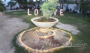 Jardín de bodas en cancún